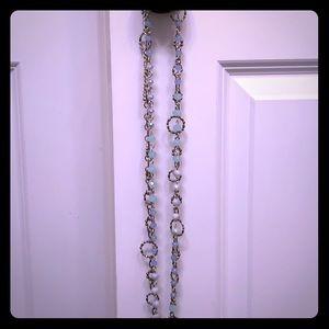 Premier Designs Silver Ring and Aqua Necklace